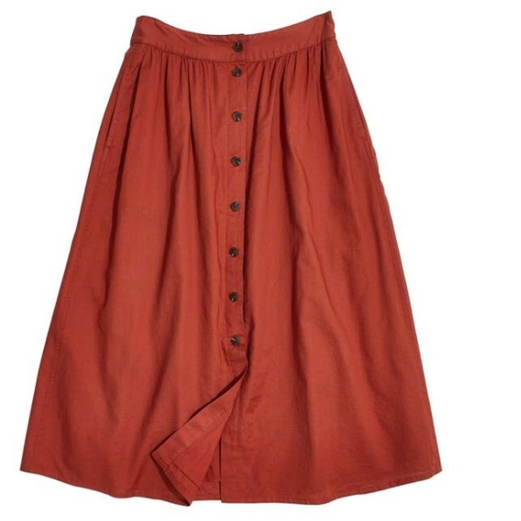 406bd26f8b Madewell Dresses & Skirts - Madewell Palisade Button Front Midi Skirt size 0